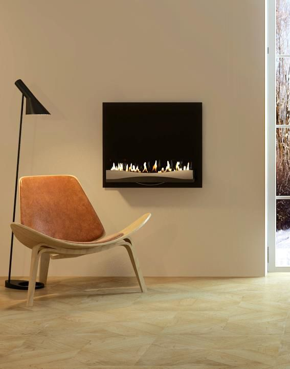 contemporary interior design- enjoy a good book and decoflame® Atlantic Wave