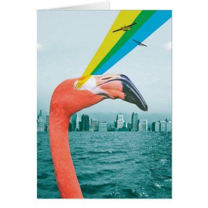 Flamingo Facts Card - blue gifts style giftidea diy cyo