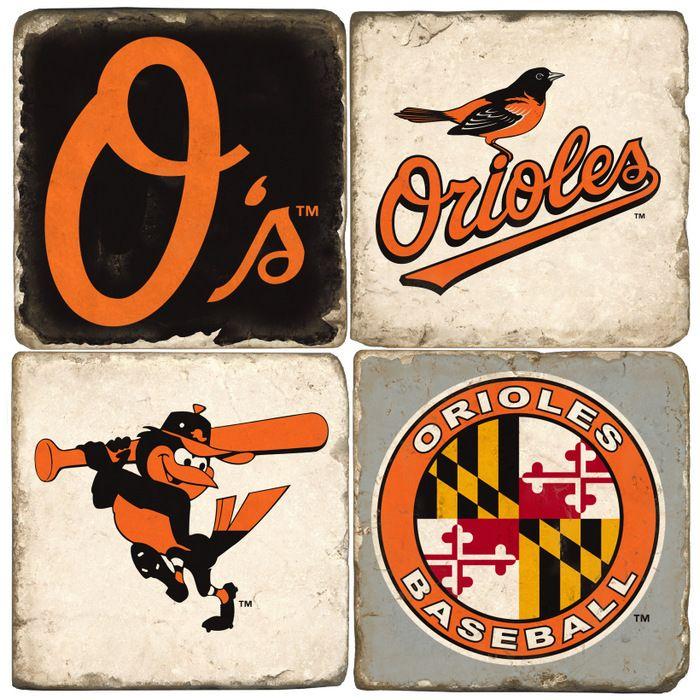Baltimore Orioles Logo Drink Coasters