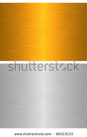 Texture metal plate - Set of the two metals