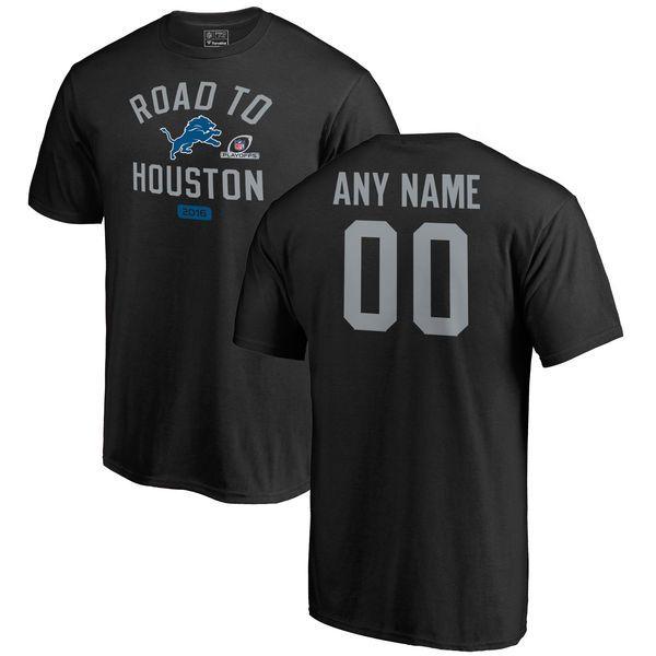 Detroit Lions Fanatics Branded 2016 NFL Playoffs Personalized T-Shirt - Black - $39.99