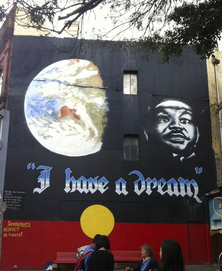 The Iconic 'I have a Dream' Mural at Newtown Sydney