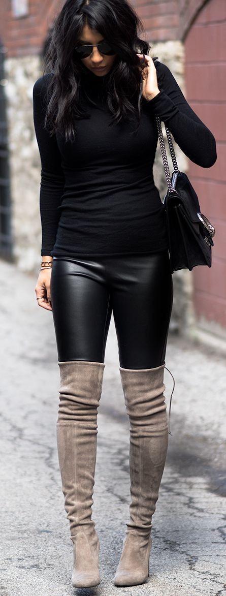 Thigh High Stuart Weitzman Grey Highland Boots | Not Your Standard #thigh