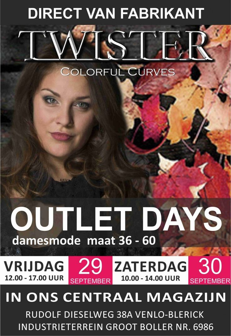 Outletverkoop Twister Colorful Curves -- Venlo -- 29/09-30/09