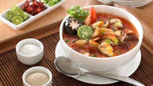 Resep Sup Asam Pedas Jamur