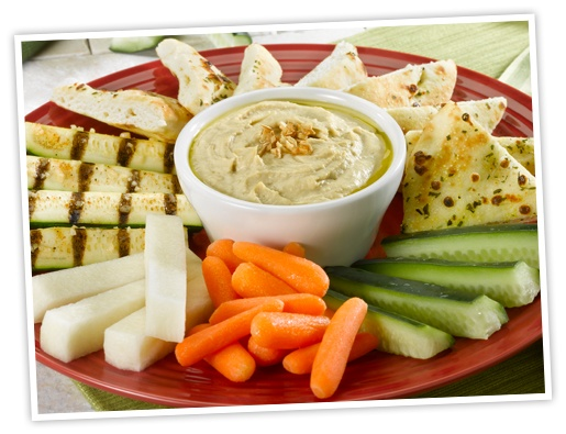 Hummus Plate At Red Robin Baby Carrots Grilled Zucchini Focaccia Cucumber And Jicama
