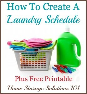 4 questions to ask yourself when making the perfect laundry schedule or routine for you, plus a free printable.