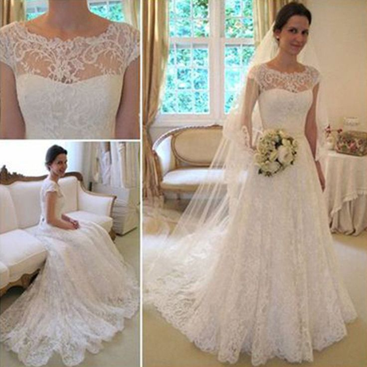 Long a-line lace dress