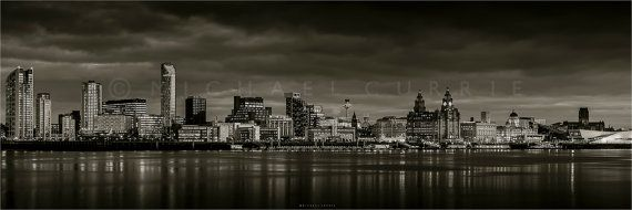 Liverpool waterfront image on large canvas. by MCurrieImages