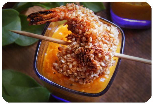 Rústica: Camarones Thai & Salsa de Mango al Chipotle