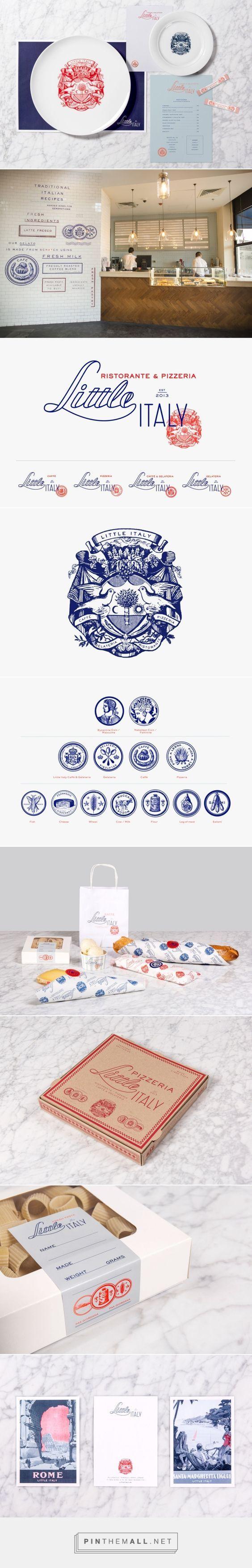 Little Italy restaurante Branding Aquí por Diseño |  Agencia de Branding Fivestar - Diseño y la Agencia de Branding & Inspiration Gallery Curada