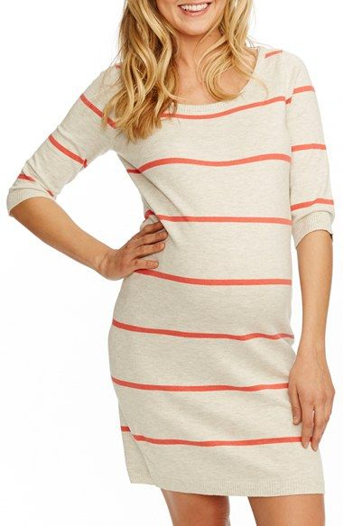 Free shipping and returns on Rosie Pope 'Harper' Stripe Maternity Sweater Dress at Nordstrom.com. Classic stripes pattern a comfortable sweater-dress knit from a soft cotton blend for a luxe feel and a casual look.