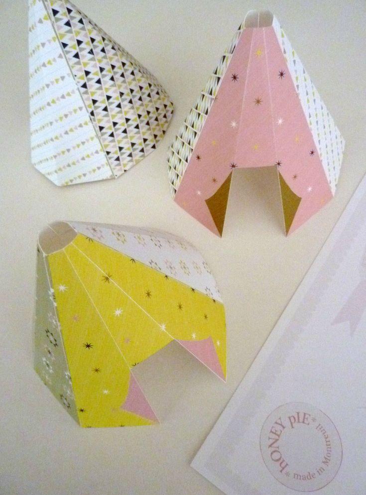 little teepee tent printables (free)