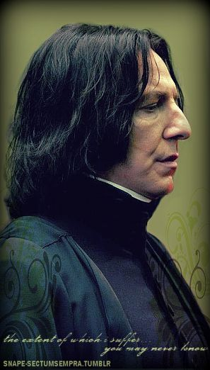 Alan Rickman as Professor Severus Snape - a character he played in all 8 of the Harry Potter movies.