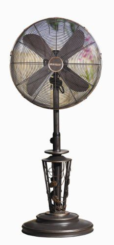Black Friday 2014 Deco Breeze Weather Resistant Outdoor Fan, Vines,  Adjustable Inches Tall With Fan Head From Deco Breeze Cyber Monday