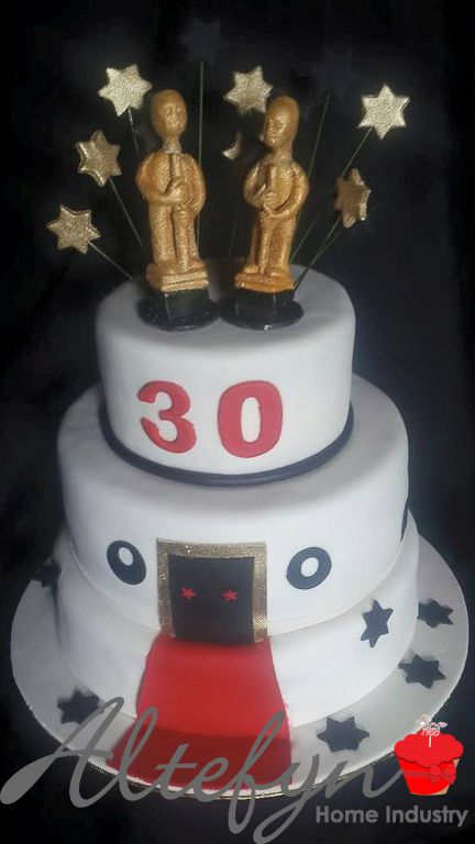 3 tier 30th birthday cake