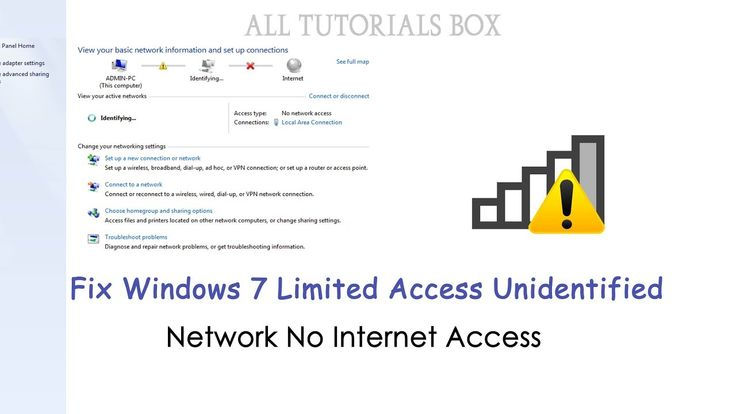 Fix Windows 7 Limited Access   Unidentified Network 'No Internet Access'