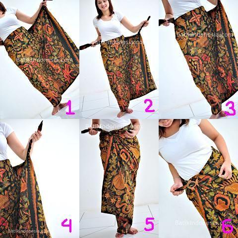 fabric Batik into a skirt (side angle)  <3