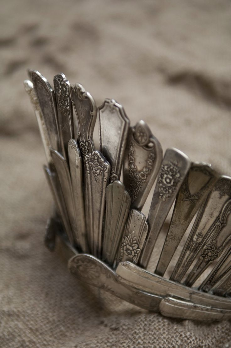Crown made of old silverware