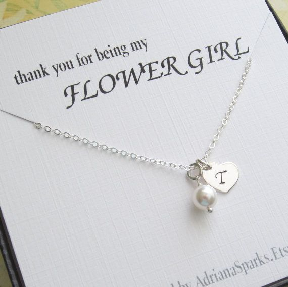 Personalized Flower girl thank you gift by AdrianaSparksBridal