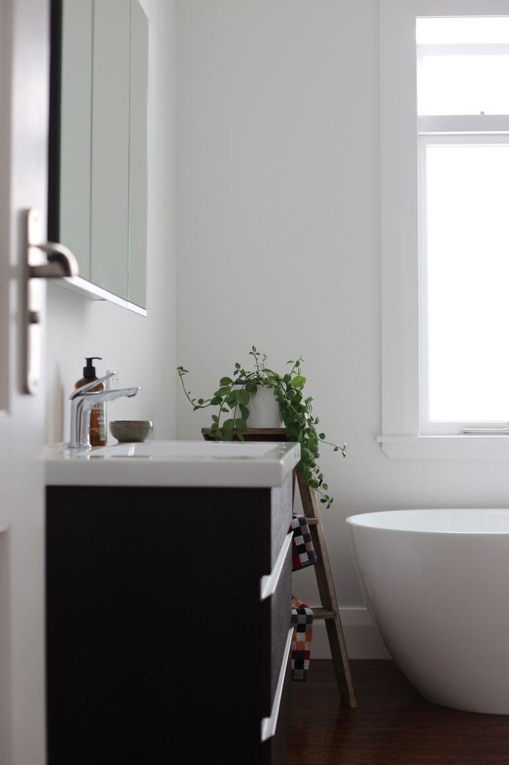 #interiorstyling #placesandgraces #serenebathroom  #ladderinbathroom #plantsinbathroom