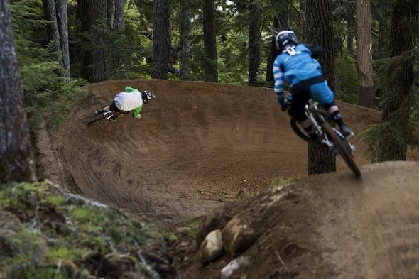 Mmmm berms....Whistler Mountain Bike Park. Sterling Lorence Photo courtesy of WMBP.