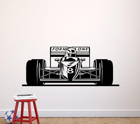 Formule 1 Race auto sticker  Racing muur Decal Racing thema