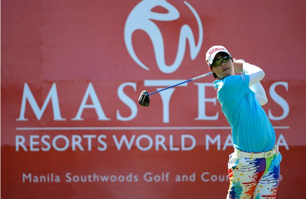 First-round leader Jazz Janewattananond, 17, shares the lead after day two of the Resorts World Manila Masters at Manila Southwoods, where the Thai teen is bidding to become the second-youngest Asian Tour winner.
