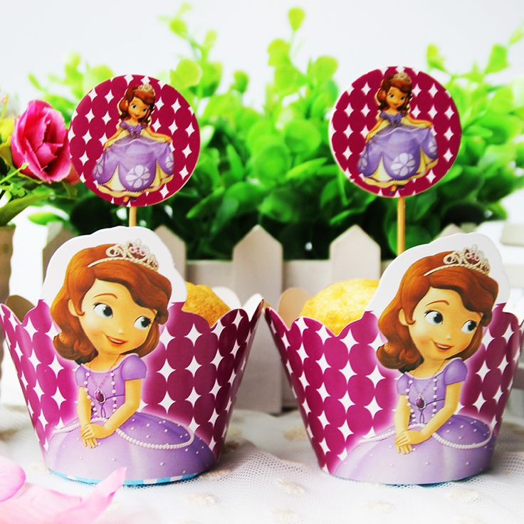 Princess Sofia Cupcake Wrappers Toppers //Price: $13.95 & FREE Shipping //     #cakedecorating