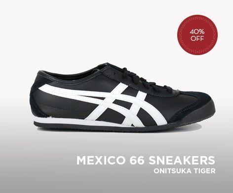 ASICS ONITSUKA TIGER MEXICO 66 UNISEX SHOES BLACK/WHITE
