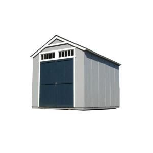 Wooden shed heartland belmont 8x8 wood storage shed for 10 x 8 garage door home depot