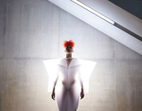 white shoot for CSM by Madame Peripetie, via Behance