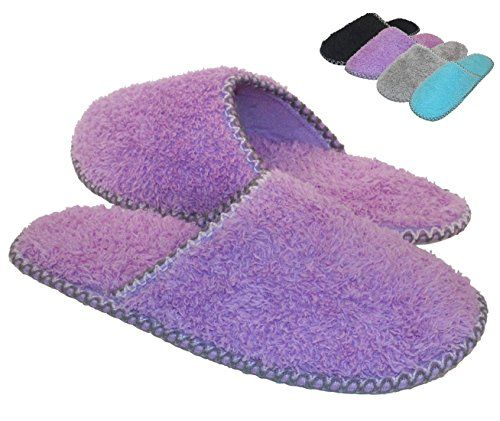 HomeTop Womenu0027s Cozy Plush Fleece Slip On Memory Foam Hou.