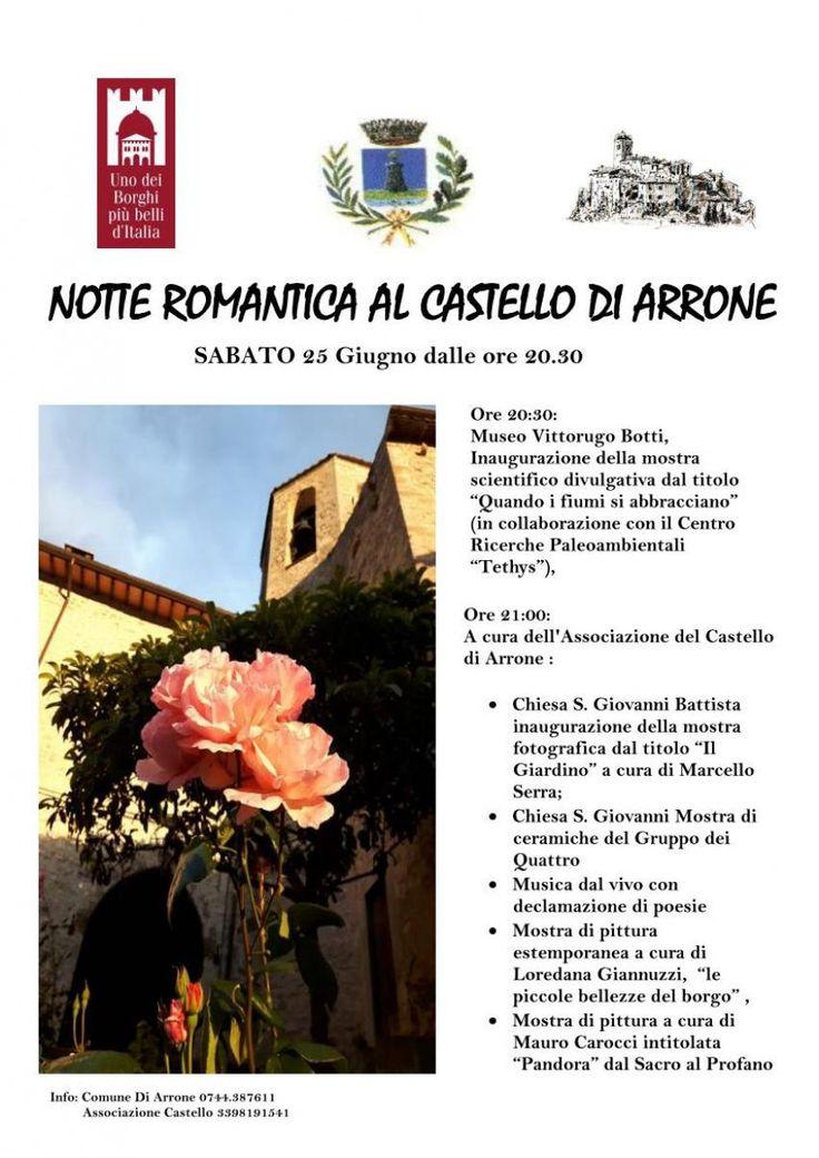 Notte romantica al Castello di Arrone