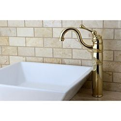 Polished Brass Faucet and Vitreous China Sink (Faucet and Sink Set), White