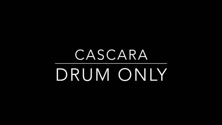 Cascara - Drum Only Backing Track
