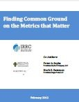 Finding Common Ground on the Metrics that Matter | This report explores and documents the extent to which corporate ESG information tracked and managed internally by companies is consistent with analogous information sought by external parties, and in particular, by ESG investors and the research companies that serve them.