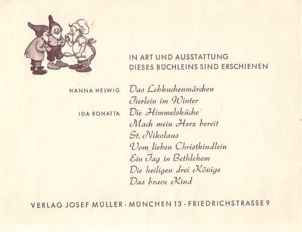 weihnachtsengelein 1954 hanna helwig wwweichwaelderde