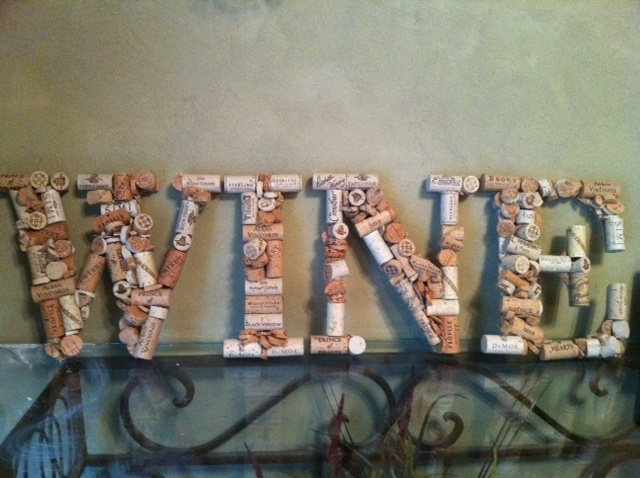 """wine corks - maybe do """"Home"""" instead.."""