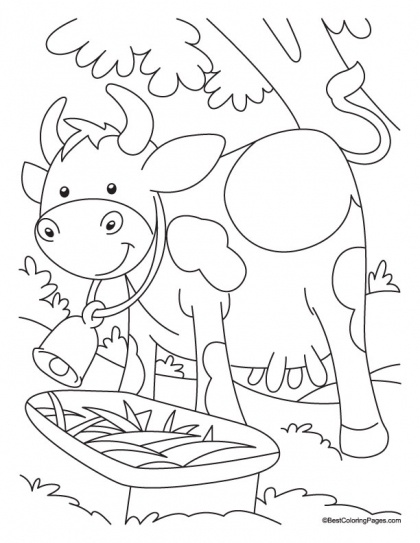 One cow outer, another in water coloring page | Download Free One cow outer, another in water coloring page for kids | Best Coloring Pages
