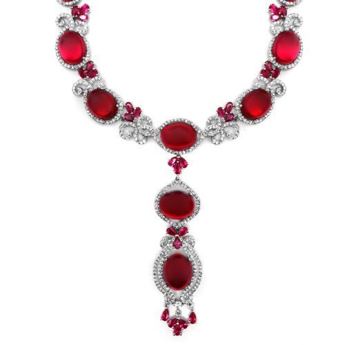 Ardelle's Ruby Cabochon CZ Necklace Inca. $487.53. Save 38% Off!