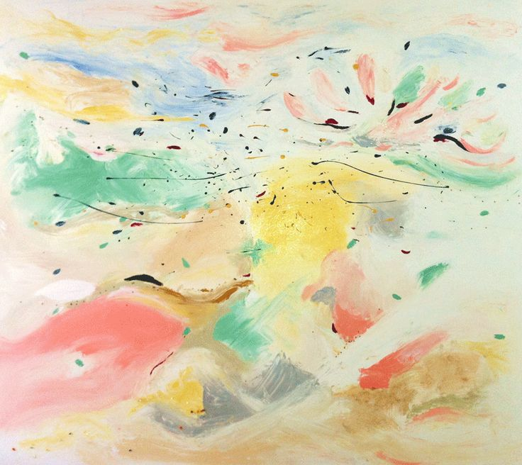 """Our latest painting instore by Chloe Planinsek, """"One Magic Day""""...just as it resonates, beautiful."""