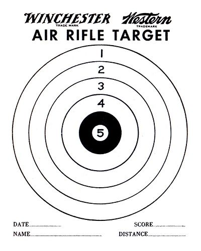 Air rifle rifles and target on pinterest