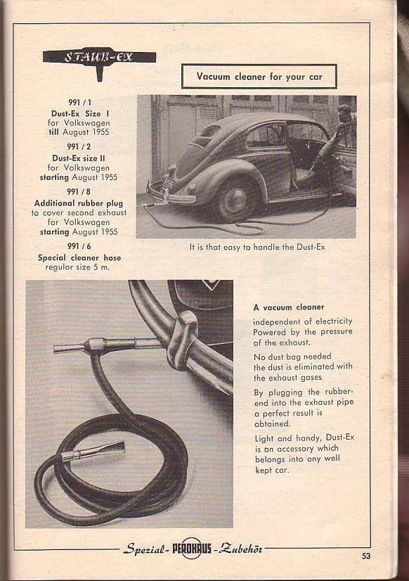 Aspiradora Perohaus para VW typ 1. Década 1950