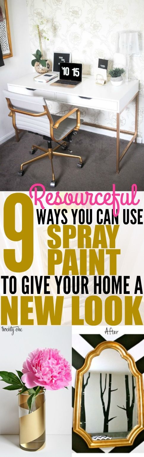 I'm literally AMAZED by these 9 DIY spray paint decor ideas! These hacks are easy enough for any beginner to try! Pinning for later!
