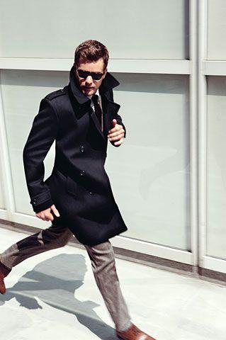 OuterwearMen Clothing, Joshua Jackson, Men Style, Men Fashion, Men'S Fashion, Style Men, Men'S Style, Trench Coats, Winter Coats