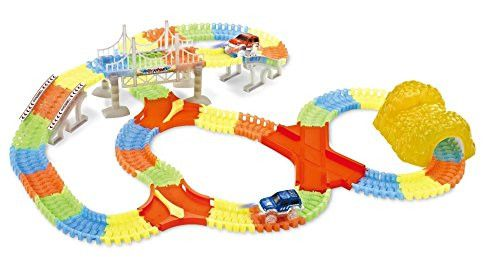 Super Snap Speedway - Deluxe 240 Pc Glow Track Set with Dual Light Up Cars