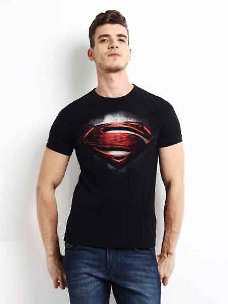 #FrenchConnection Men Black #Superman Printed #TShirt #allMemoirs