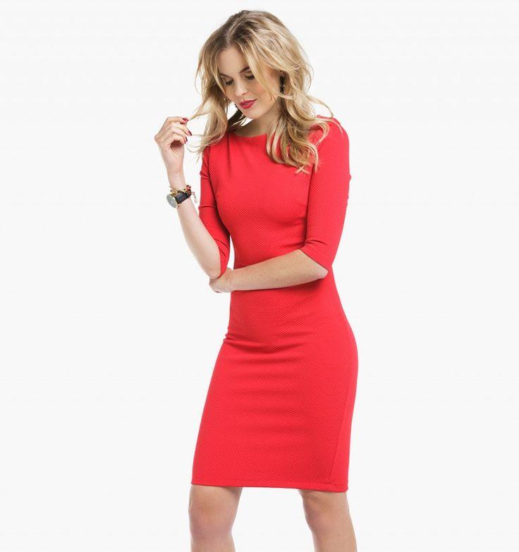 Nauwsluitende rode dames jurk