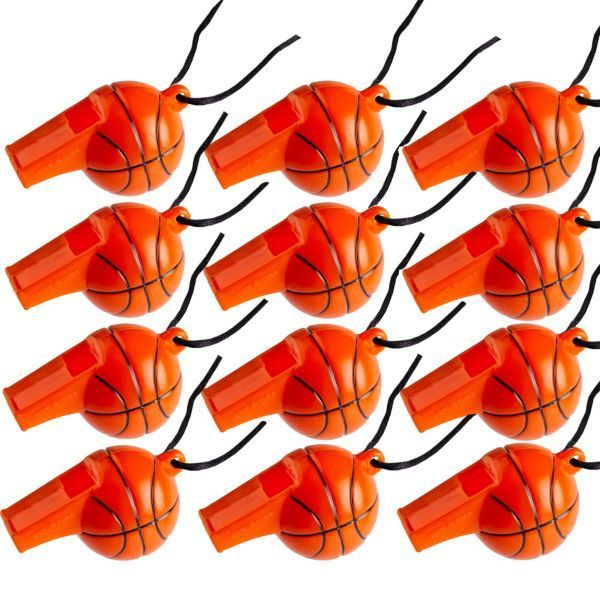 Basketball Mini Whistles 12ct. Would be fun party favors for a basketball themed bar mitzvah or birthday party!